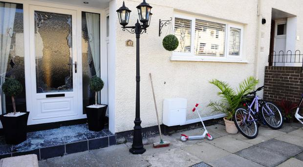 Family escape injury after gunman opens fire on their north Belfast home. Pic Presseye