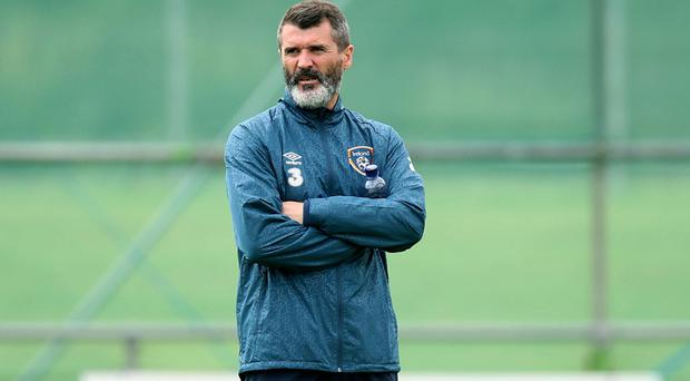Show time: Roy Keane was in relaxed mood ahead of Georgia