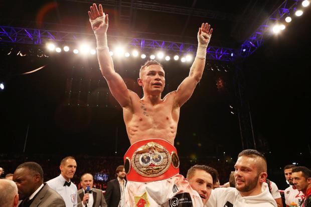 Carl Frampton defeats Kiko Martinez in Belfast. Pic Matt Mackey
