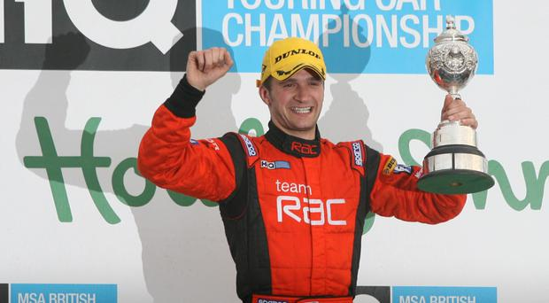 In gear: Colin Turkington won two races over the weekend to move 55 points clear in the British Touring Car Championship
