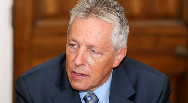 First Minister Peter Robinson at Stormont yesterday