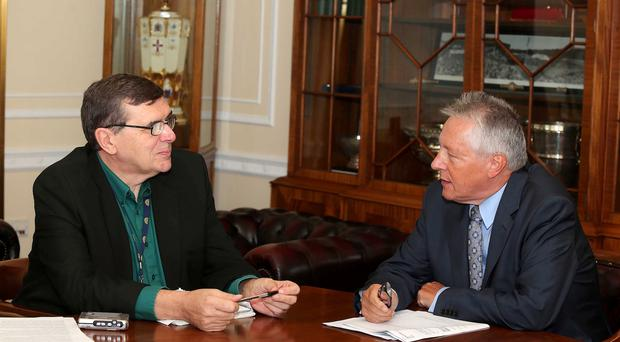 Issues: Peter Robinson during his exclusive interview with Liam Clarke