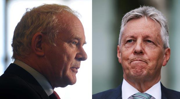 Martin McGuinness reacted with anger and suspicion over comments made by Peter Robinson in Tuesday's Belfast Telegraph