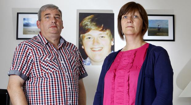 Loving memory: After their son Neil's tragic death, Johnny and Catherine McFerran want to protect others