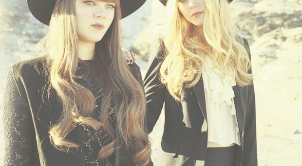Band aid: Klara (left) and Johanna Söderberg are supportive of one another during their long months spent on the road