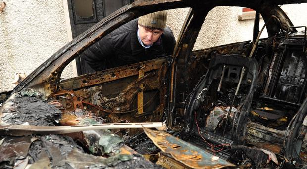 The home Willie Frazer was the subject of an arson attack in 2013