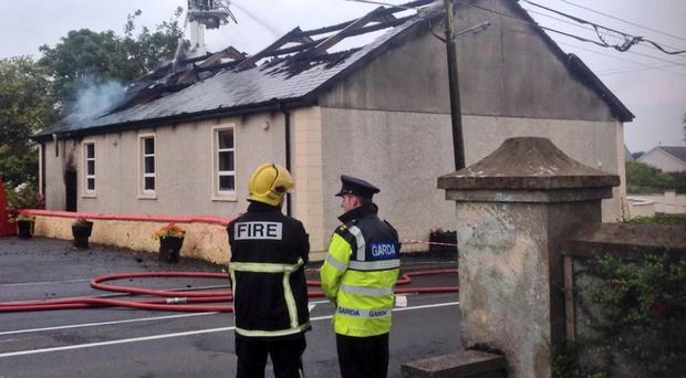 Newtowncunnigham Orange Hall was badly damaged in the fire. Pic: Orange Order.
