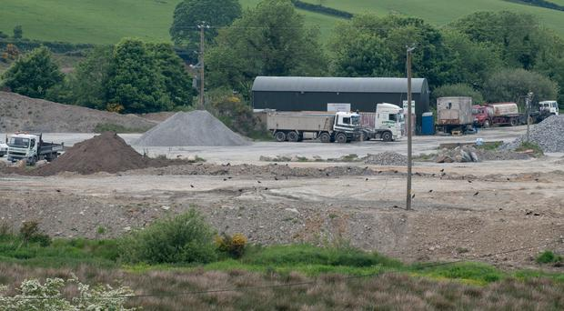 More than half-a-million tonnes of material was buried close to the River Faughan at Campsie