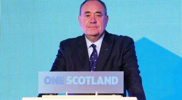First Minister of Scotland Alex Salmond during a press conference at Dynamic Earth in Edinburgh after the countru vote No. Pic Danny Lawson/PA Wire