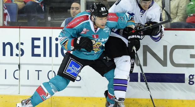 Early riser: Belfast Giants captain Adam Keefe scored after less than three minutes