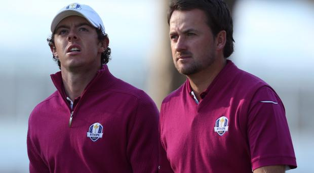 Rory McIlroy and Graeme McDowell at 2012 Ryder Cup