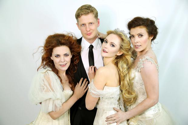 Dead good: Dracula cast members Rachel Tucker, Gerard McCarthy, Jayne Wisener and Kym Marsh