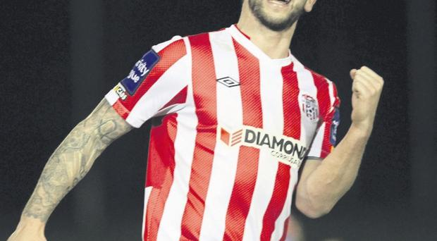 City slicker: Rory Patterson's equaliser gave Derry City a share of the points at home to Athlone Town