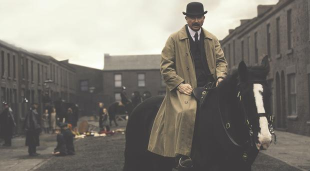 Booming voice: Sam Neill in Peaky Blinders