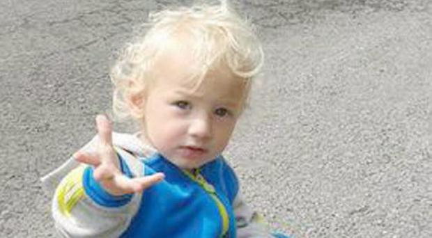 Little toddler Joshua Mangan who was tragically killed in a home incident near Letterkenny.
