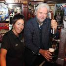 Sunday Life columnist Ivan Little and Claire Johnston of The Railway Arms in Coleraine.
