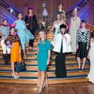Arthur Cox Fashion Showcase at the Titanic Building in Belfast on Thursday 25th September. Lynsey Mallon, Partner at Arthur Cox (centre) with models who are showcasing collections from 12 leading designers from across the island of Ireland.