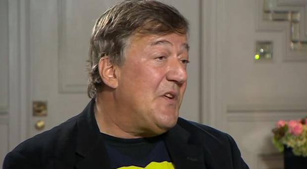 Actor and comedian Stephen Fry was speaking on the BBC's Newsnight