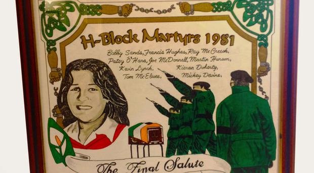 Sinn Fein shop items for sale - framed picture