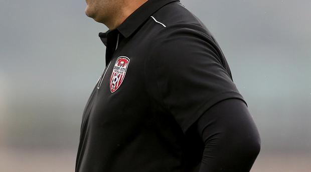 Tough task: Peter Hutton's Derry City face a tough task at Turner's Cross