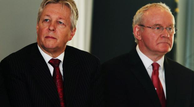 Northern Ireland First Minister Peter Robinson and deputy First Minister Martin McGuinness