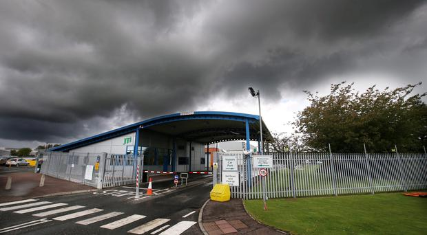 Dark days: outside the JTI Gallaher plant in Ballymena