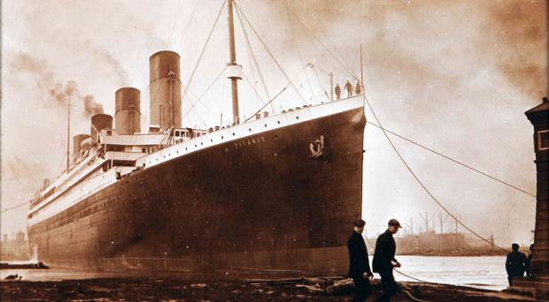 The family photograph album contains never before seen images of the Titanic during her launch