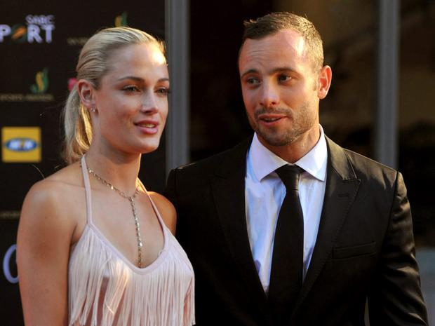 Oscar Pistorius and Reeva Steenkamp arrive for an awards ceremony in Johannesburg, South Africa, in 2012.
