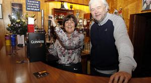 Margaret Ferguson with Ivan Little at the Lakeside Inn near Downpatrick.