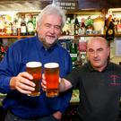 Kevin O'Brien with Ivan Little at The Maypole Bar, Holywood, Co Down.