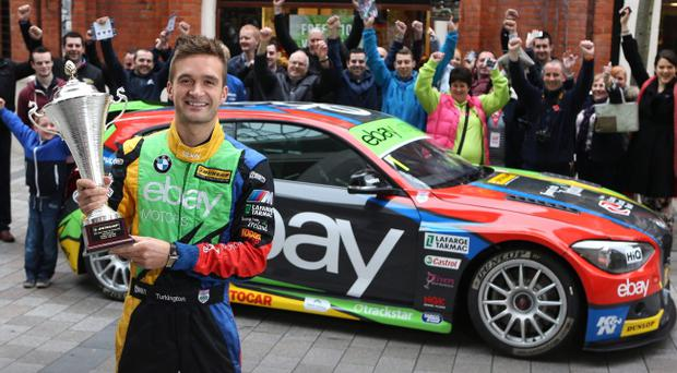 Show-stopper: Colin Turkington and his title winning BMW