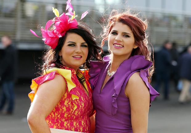 Amy Campbell and Hannah Forbes - Style and elegance were front runners all the way, according to Ladies Day Best Dressed sponsor, Kris Turnbull, as the most stylish Saturday in Northern Ireland's social diary made a welcome return to Down Royal Racecourse this weekend.