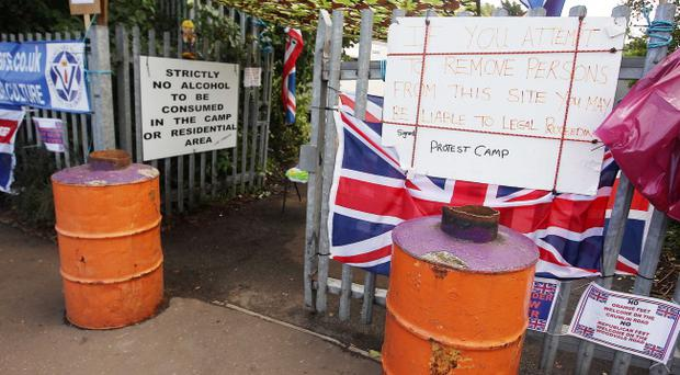 The alleged offences took place close to the Twaddell protest camp, set up in July 2013, with all of the accused said to be affiliated with the Pride of Ardoyne band