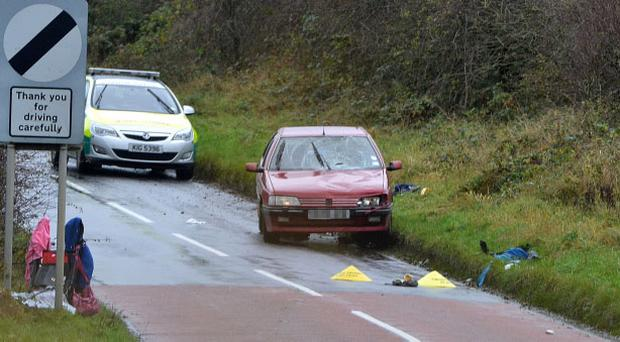 A woman and six children have been hit by a car while they were walking to school in Cloughmills. Pic Pacemaker