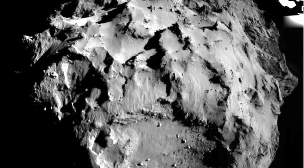 Philae took this pictures when it was just 3km from the surface of 67P/Churyumov-Gerasimenko