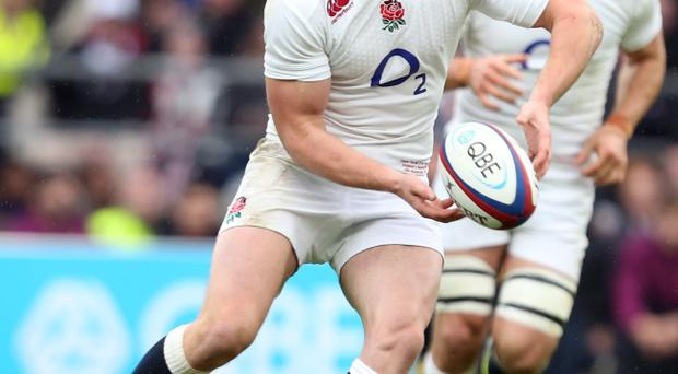 Content: Owen Farrell is quite happy to leave kicking duties to George Ford