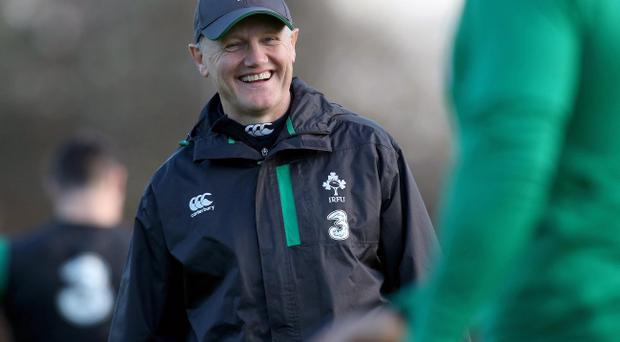 All smiles: Joe Schmidt will have an even bigger grin on his face if Ireland win todaycombination