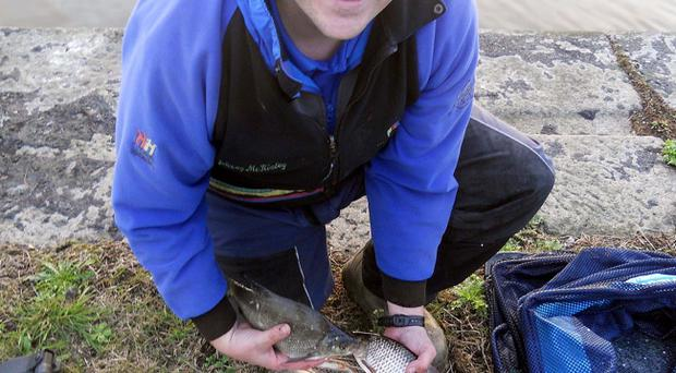 Top catch: Johnny McKinley was the first winner of Ulster Coarse Fishing Federation Teams of Eight event on Newry Canal