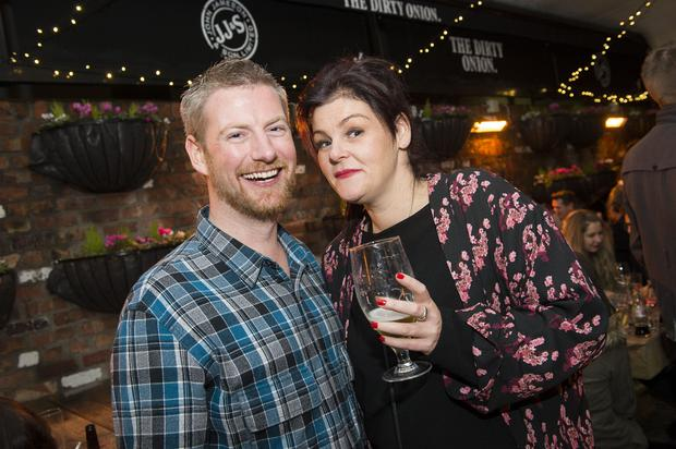 November 2014 - Photographs by Carrie Davenport: The Dirty Onion first birthday party. Pictured Jarleth Lennon and Rachel Jackson