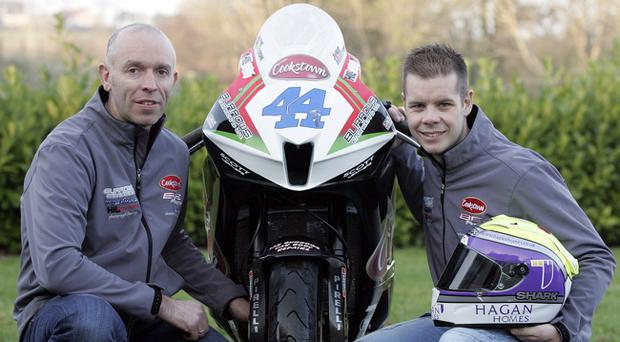 Hammer time: B.E Racing team owner John Burrows with new signing Jamie Hamilton