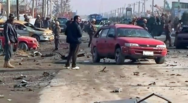 The scene of the blast in Kabul