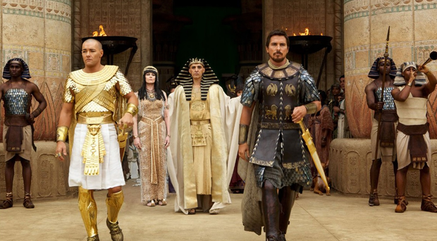 White actors Christian Bale and Joel Edgerton have major roles in Exodus, Gods and Kings