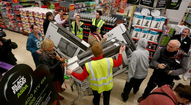 Members of the public shopping in ASDA in west Belfast on Black Friday Picture Credit : Kevin Scott / Belfast Telegraph