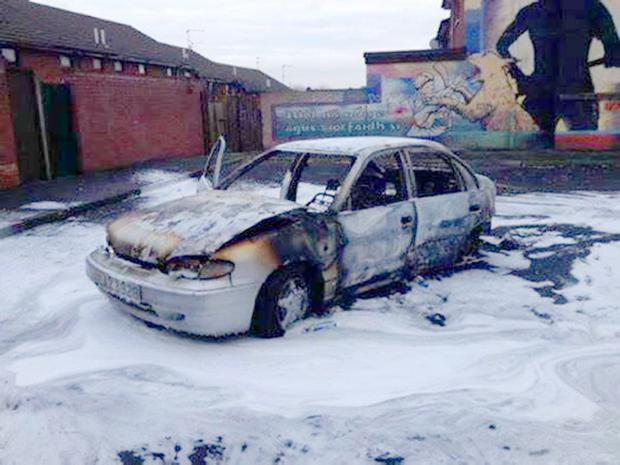 Car crime in the Divis area of west Belfast