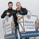 New boys: Glenn Irwin and Ben Wilson who will make their North West 200 debuts in 2015
