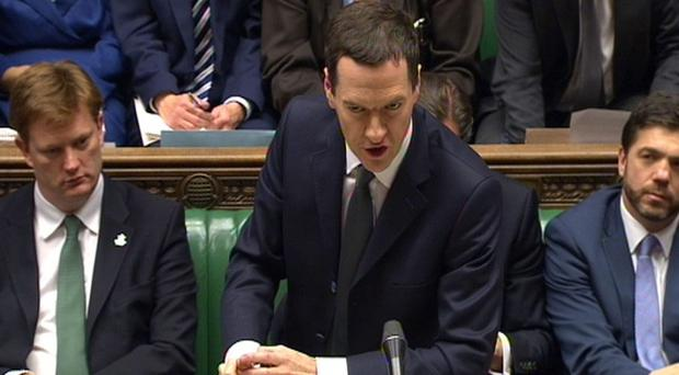 George Osborne delivers his Autumn Statement to MPs in the House of Commons