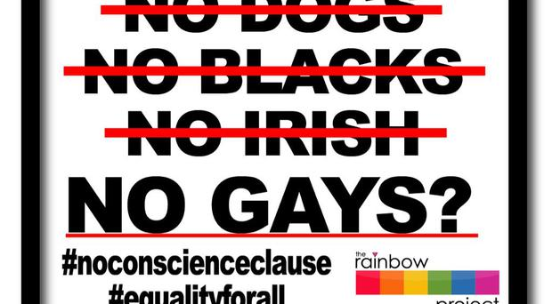 The Rainbow Project says a conscience clause in equality legislation would discriminate against the LGBT community