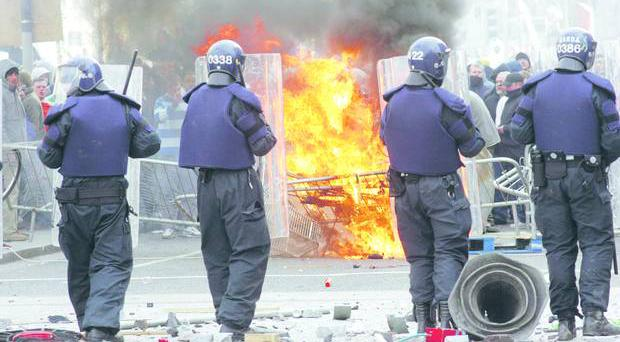 Rioting at the 2006 Love Ulster march in Dublin