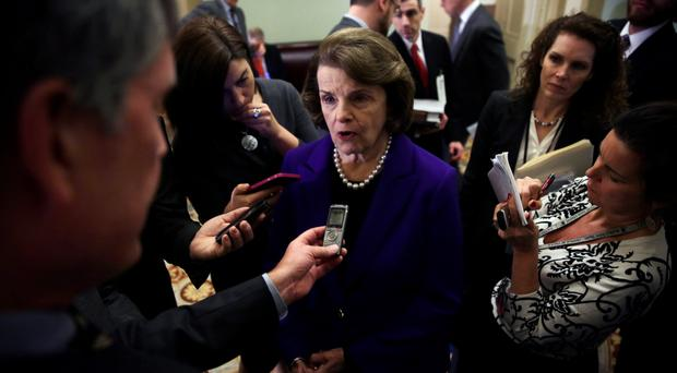 Senator Dianne Feinstein is interviewed yesterday after releasing her report into CIA torture
