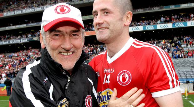 Successful partnership: Mickey Harte and Stephen O'Neill enjoyed a decade of glory with the Red Hands
